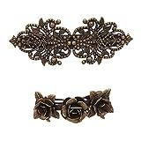 2 PCS Mini Flower Hair Claw Clip Grip Metal Clamp Romantic Sweet Cute For Girls Teens Women
