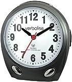 Verbalise Radio Controlled Talking Clock Black (English Speaking)