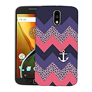 Snoogg awesome chevron Designer Protective Back Case Cover For Motorola Moto G4 Plus