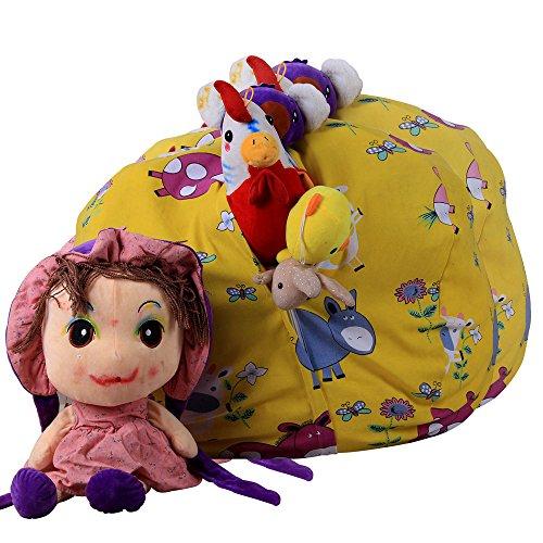 Spielzeug Aufbewahrungstaschen mit reißverschluss, Sitzsack Kinder Stofftier Kuscheltiere...