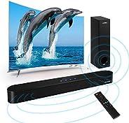 ساوند بار للتلفزيون 2.0CH بلوتوث 80W 34 بوصة مع مضخم صوت مدمج من الأكريليك للتحكم البصري AUX RCA USB متحد المح