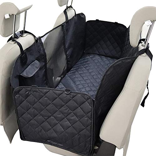 Hundedecke für Auto Rückbank Autoschondecke für Hunde Wasserfester Rücksitz Sitzbezug Autodecke für Haustiere Schonbezüge Decke universell für jedes Auto-Robustes Material-für Kofferraum (02)
