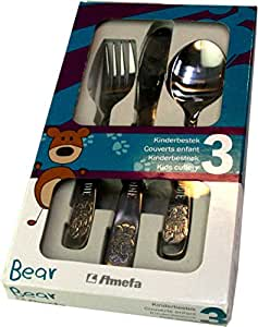 Personalised 3pce Cutlery Set - Bear Design