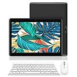 Tablet 10 Pollici con Wifi Offerte, RAM da 3GB 32GB ROM(espandibile 128GB)DUODUOGO 4G Tablet Android 9.0 Quad-Core 1.5 GHz Dual SIM Tablet PC Offerta Del Giorno con Tastiera/Netflix/OTG (Nero)