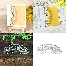 FEIDAjdzf - Troqueles de corte para manualidades, recortes, borde de flor, decoración de