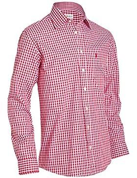 Almsach Herren Regular Fit Trachtenhemd HE 162