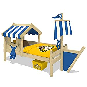 wickey kinderbett mit dach crazy finny spielbett mit. Black Bedroom Furniture Sets. Home Design Ideas