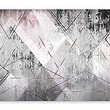 murando - Fototapete Beton 400x280 cm - Vlies Tapete - Moderne Wanddeko - Design Tapete - Wandtapete - Wand Dekoration - Abstrakt geometrisch grau a-A-0350-a-a