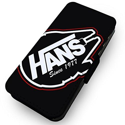 WTF | Hans seit 1977(Vans Parodie) | Kunstleder Flip-Telefon Fall, Kunstleder, HTC One M8 (Htc M8 Flip-telefon Fall)