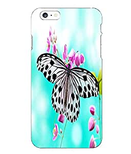Make My Print Butterfly Printed Multicolor Hard Back Cover For Iphone 6 Plus