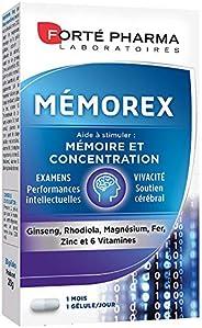 Forté Pharma | Mémorex | Complément Alimentaire - Mémoire et Concentration |30 gélules