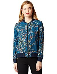Miss Chase Women's Multicolored Printed Bomber Jacket