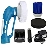 Polisseuse de Voiture électrique sans fil, Nettoyeur Polisseur Portable Automatique Fortune Dragon Machine à Polir avec Batterie Rechargeable, 3 Set Brosses Changeables, Bleu