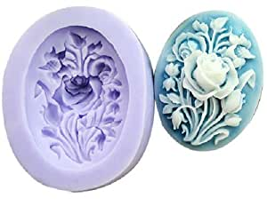Allforhome (TM) 3.9cm Mini Flower Sculpting Sugarcraft Silicone Sugar Resin Craft DIY Moulds gum paste Cake Decorating Fondant Mold (1-Pack)