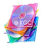 100 Custodie CD slimcase COLOR 5.2 mm singole custodia singola cd-r dvd bluray slim case colorata tray porta cd
