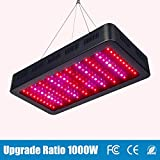 TOPLANET Luci per Piante 1000w Led Grow Light Full Spectrum con UV IR Luce ON-OFF Interruttore per la Verdura e Fiori Indoor Hydroponic Serra Grow Box