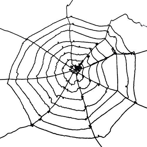 Spinne Web Dekoration Wiederverwendbare dehnbar Spinnen Web Gurtband Halloween Gejagte Haus Garten Dekorationen Requisiten (Schwarze Spinnennetz) ()