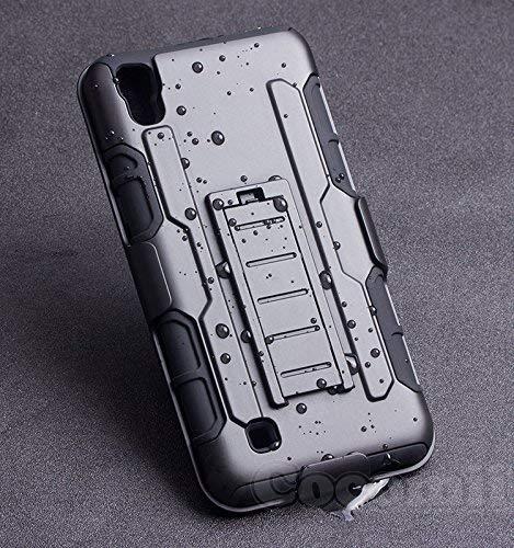 Cocomii Robot Armor LG X Power Hülle NEU [Strapazierfähig] Erstklassig Gürtelclip Ständer Stoßfest Gehäuse [Militärisch Verteidiger] Ganzkörper Solide Case Schutzhülle for LG X Power (R.Black)