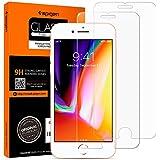 iPhone 8 Plus / 7 Plus Panzerglas, 2 Stück, HD 0.33mm, Spigen, Easy Install Kit, 9H gehärtetes Glas, Antikratz,iPhone 8 Plus Panzerglas (043GL20801)