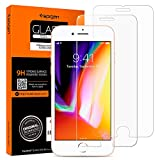iPhone 8 Plus / 7 Plus Panzerglas, 2 Stück, HD 0.33mm, Spigen, Easy Install Kit, 9H gehärtetes Glas, Antikratz,iPhone 8 Plus Panzerglas (043GL20801)