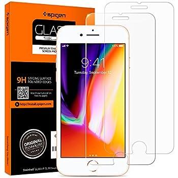 Spigen® 042GL20800 Protection écran iPhone 8 / 7, Verre Trempé iPhone 8, Protection écran iPhone 7, [Extreme Résistant aux rayures] Protection ecran iPhone 8 / 7 Lot de 2