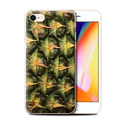 Stuff4 Hülle / Case für Apple iPhone 8 / Weintrauben Muster / Saftige Frucht Kollektion Ananas