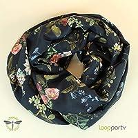 Loop-Schal Damen Viskose florales Motiv