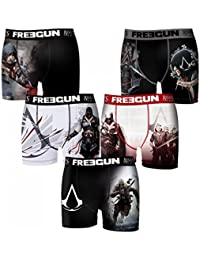 Freegun - Assassins Creed - Lot De 5 Boxers Homme