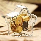 SunnyGod Perfekte Dekoration Spieldose Einfache Acrylpentagram-Spieluhr für Geschenk Hauptdekoration-Transparent, Canon