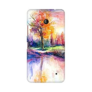 Mobicture Abstract Scenery Premium Printed High Quality Polycarbonate Hard Back Case Cover for Nokia Lumia 640 With Edge to Edge Printing