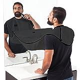 PErryTM Beard Apron Hair Catcher For Quick Disposal Of Facial Hair Mess - Black