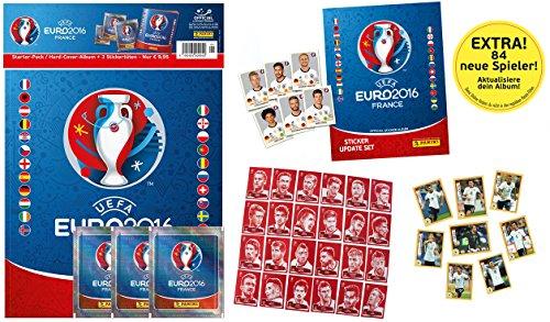 Panini UEFA EURO 2016 FRANCE Set inkl. Hardcover Album, Update Set, 8 Mc Donalds, 24 Coca Cola Sticker + 3 Sticker Tüten