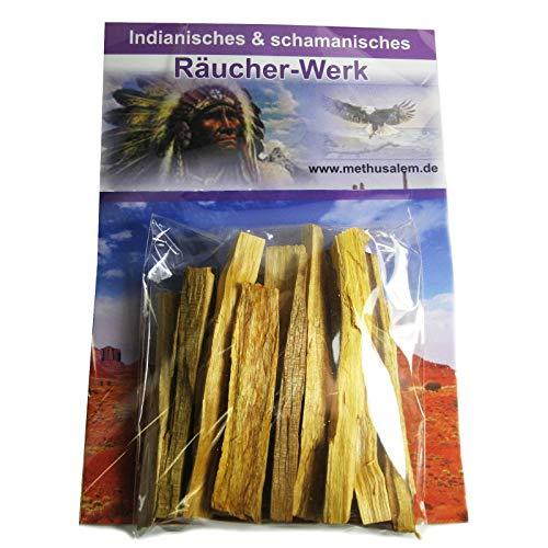Palo Santo Heiliges Holz 12 Stück je 10-12cm Sticks zum Räuchern + Ausräuchern + Reinigung + Schutz + Hausreinigung + Meditation mit Booklet. 81050