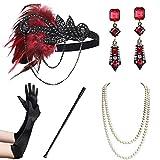 Coucoland - Set di accessori per costume anni '20, anni '20, stile Gatsby Set 15 Taglia unica