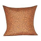 Loom und Mühle p0131a-2121p Azteken Dekoratives Kissen, 53cm, orange