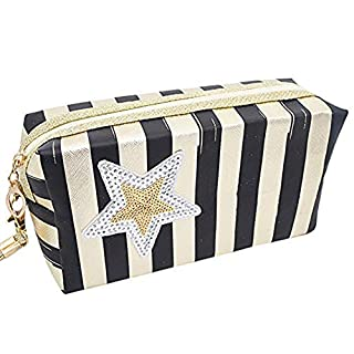 Cosmetic bag,IMJONO party summer Mother's Day Easter April Fool's Day 2019 Best Gift for Mom Discount clearance wash bag Women Star Travel Make Up Cosmetic Bag Fashion Multifunction Makeup Brush Bag A