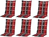 6 x 8 cm Luxus Hochlehner B 253', grau anthrazit rot kariert