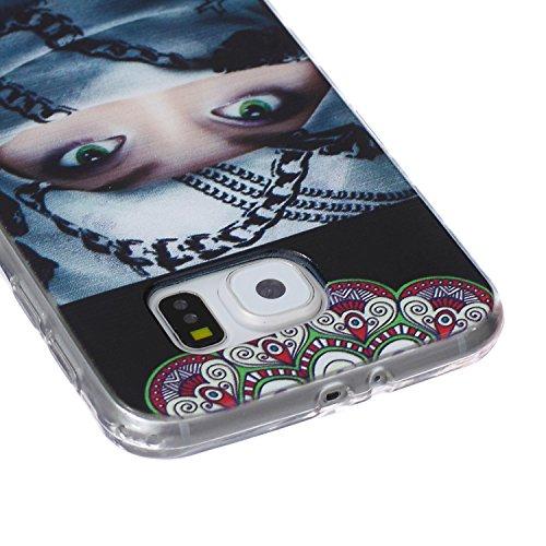 Custodia Cover per iPhone 5S Silicone,TOCASO Case for iPhone 5 5S Soft Case Transparent Gel Skin Bumper Chiaro Cristallo Slim Silicone Caso Modello Bianco Piuma Uccello Freedom di TPU Trasparente Sott Crystal Cover,#17