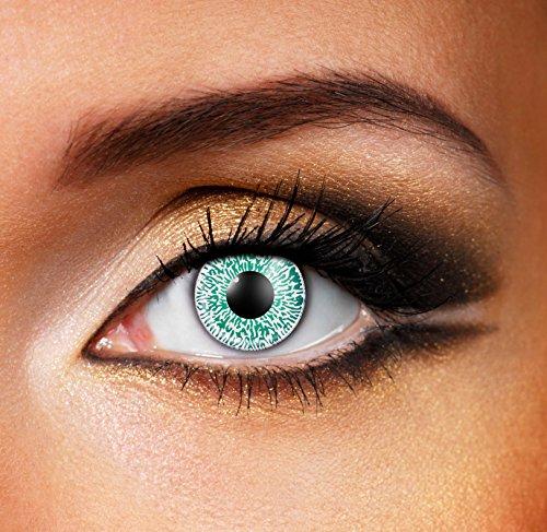 Eyefusion® Farbige Aqua 1 Tone Kontaklinsen Crazy Ohne Starke Fur Halloween Und Karneval