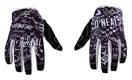 O'Neal Herren Jump Wild Full Finger Mountain Enduro Motocross Dirt Bike Handschuhe, schwarz/weiß, X-Large