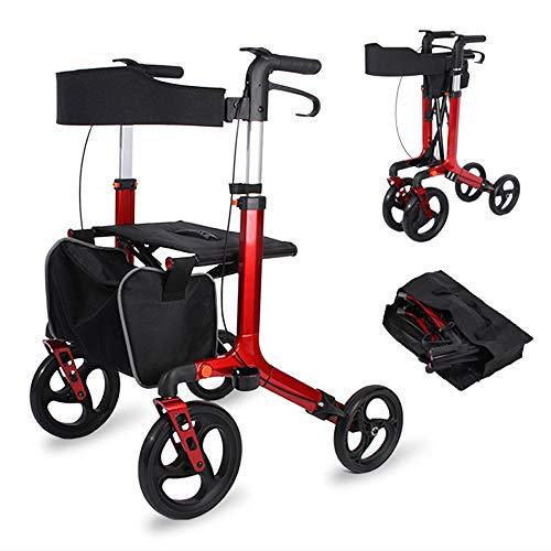 HYJ Andadores Ancianos Rollator Walker Plegable con Movilidad Adecuado para Personas Mayores y discapacitadas