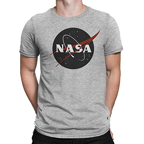 Vintage Retro Grunge NASA Logo Herren T-shirt S (Light T-shirt Bee)