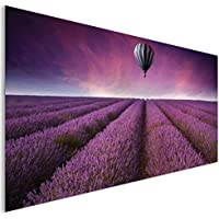 Viola lavanda Field balloon contemporaneo vetro acrilico fantasy Wall Art XL