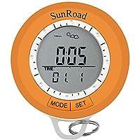 Nelnissa LCD digitale pedometro altimetro barometro bussola termometro moschettone, Orange