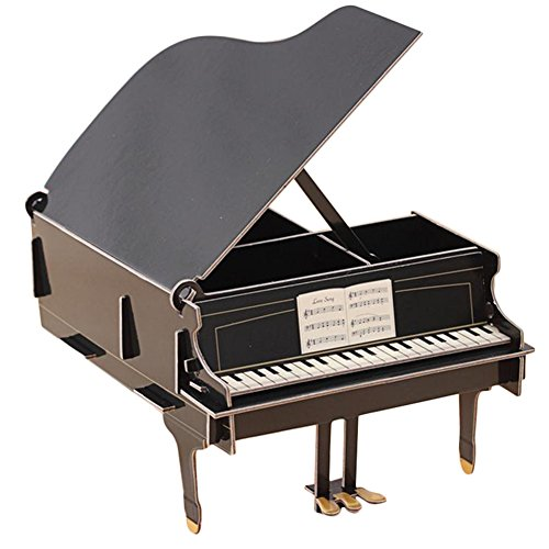 Demarkt Aufbewahrungsbox Organizer Cartoon Papier Schreibtisch Aufbewahrungsbox Schwarzes Klavier für Handy Kugelschreiber DIY