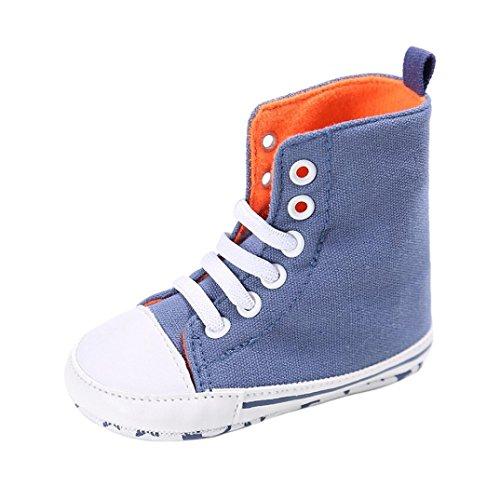 Igemy 1Paar Baby Kleinkind niedlich Canvas Soft Prewalker Anti-Rutsch Schuhe Blau