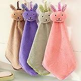 Gaddrt 36cm Baby-Handtuch-Karikatur-Tierkaninchen-Plüsch-Küchen-weiches hängendes Bad-Tuch Handtuch
