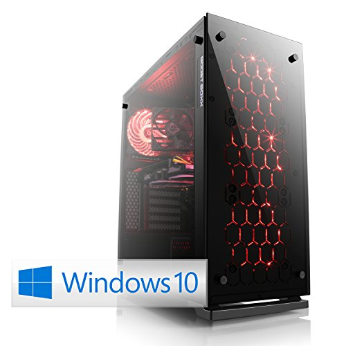 CSL Gaming-PC Speed D10053X (Core i7) inkl. Windows 10 Home - Gaming-PC mit Intel Core i7-7700K 4x 4200 MHz, 240GB SSD, 2000GB HDD, 16GB DDR4-RAM, ASUS Mainboard, GeForce GTX 1080, 7.1 Sound, GigLAN Gaming-pc Mit 16 Ram