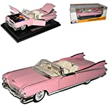 Maisto Cadillac Eldorado Biarritz Cabrio Pink 1959 1/18 Modell Auto mit individiuellem Wunschkennzeichen