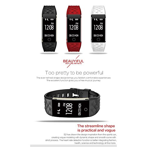 FANCY CHERRY Reg Fitness Tracker S2 HR Smart Watch IP67 Waterproof Sports Activity Tracker Pedometer Cycling Calorie Wristband CallSMS Whatsapp Reminder For Samsung IPhone Android IOS Smartphone